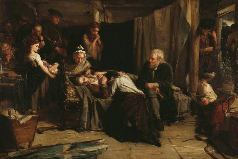 Robert Herdman - After the Battle A Scene in Covenanting Times (1870)