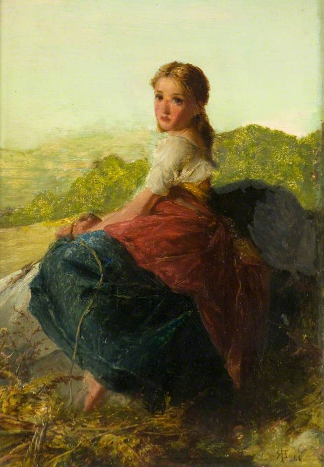 Robert Herdman - Fern Gatherer (1866)