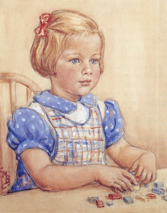 Cicely Mary Barker - Portrait of Ianthe Barker (1951)