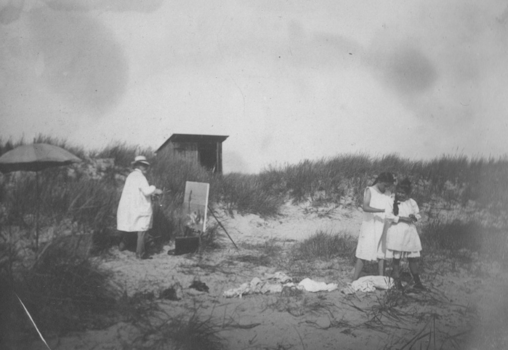 Photographer Unknown - Laurits Tuxen painting 'Sommerdag på Skagen Strand med Figurer' (2)