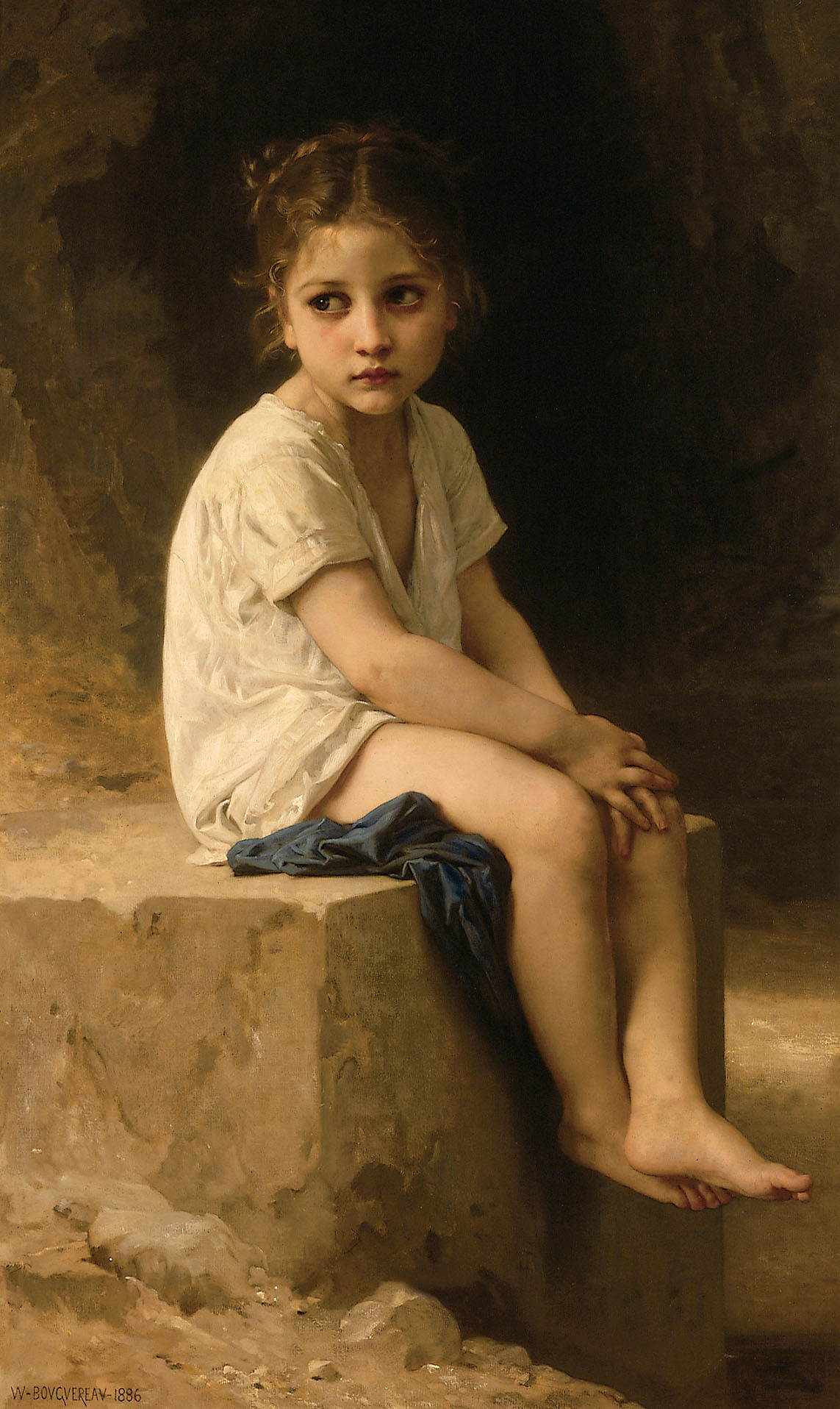 William-Adolphe Bouguereau - Au pied de la falaise