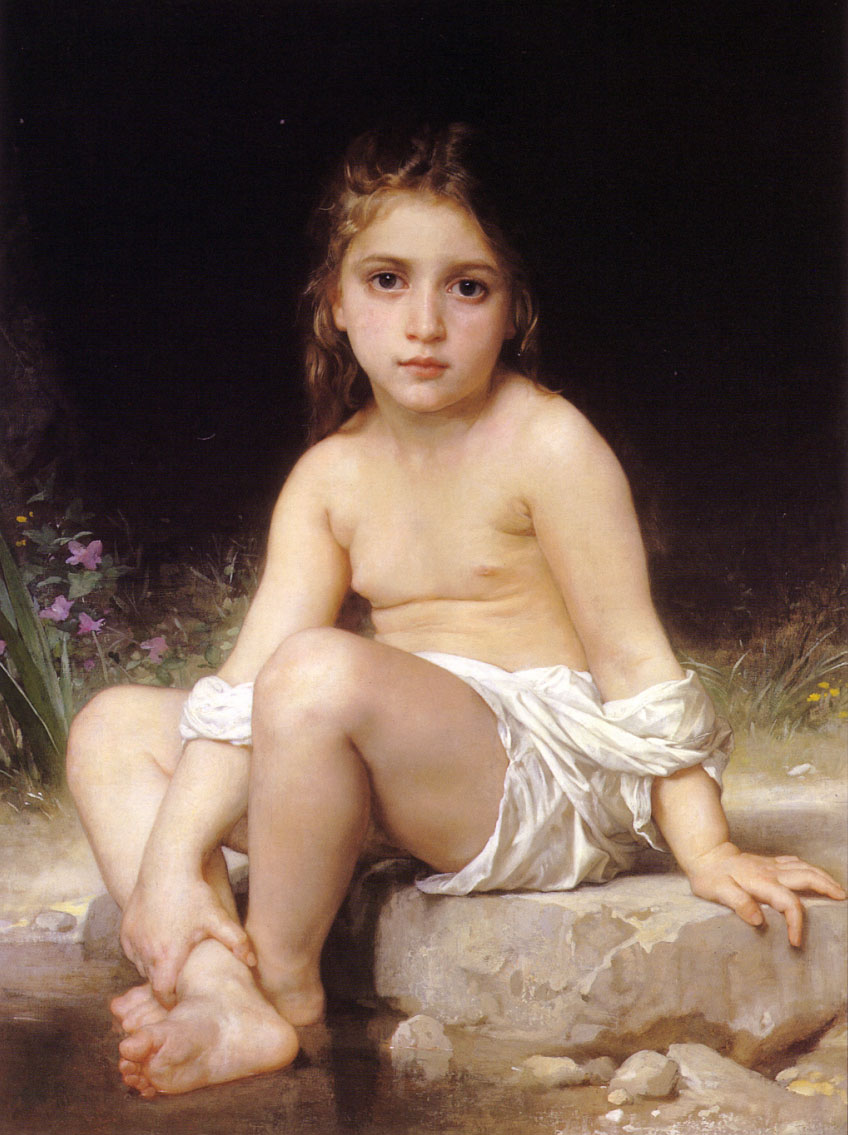 William-Adolphe Bouguereau - Enfant au bain