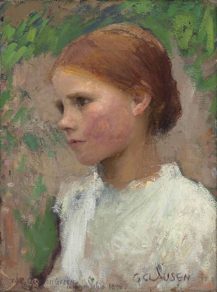 George Clausen - Young rural girl (1896)