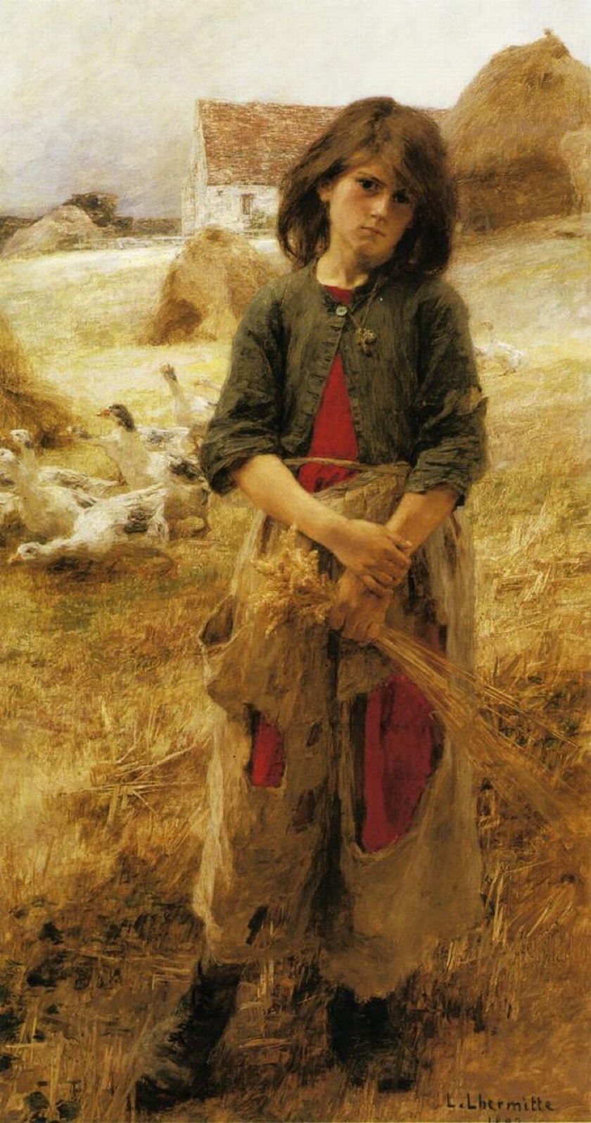 Léon Augustin Lhermitte - The Goose Girl of Mézy