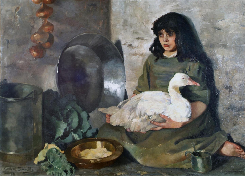 Edith Somerville - The goose girl (1888)