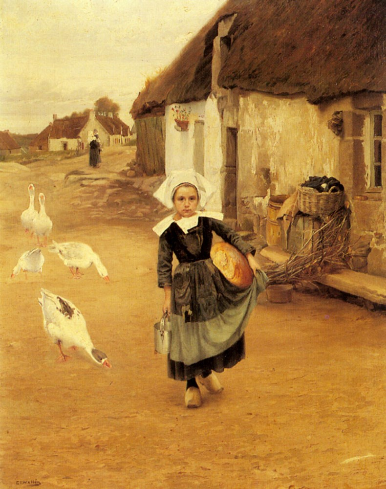 Gustaf Theodor Wallén - The little goosegirl