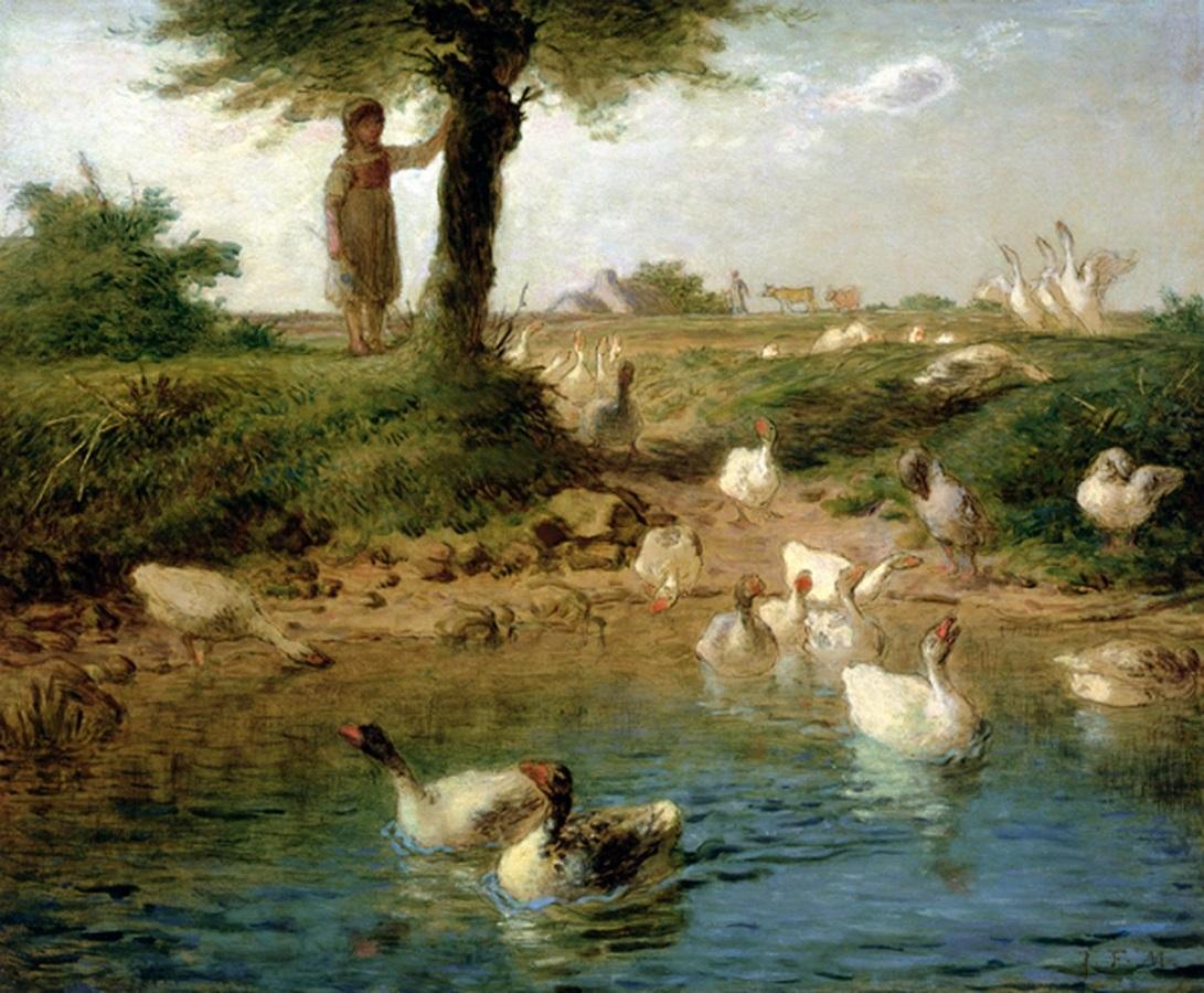 Jean-François Millet - The goose girl (1866-67)