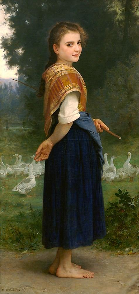 William-Adolphe Bouguereau - The goose girl (1891)