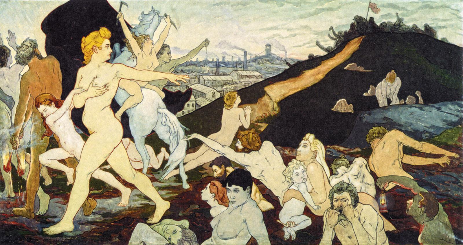 Charles Maurin - L'Aurore du Travail (The Dawn of Labor) (c.1891)